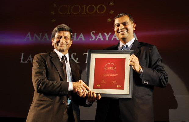 The Agile 100: Anantha Sayana, VP-Head IT, Larsen Turbo receives CIO100 Award for 2010