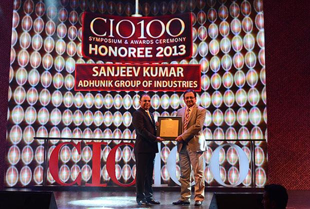 The Astute 100: Sanjeev Kumar, Group CIO and Group President-Business Excell of Adhunik Group of Industries receives the CIO100 Award for 2013