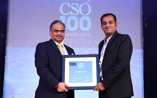 Shailendra Upadhyay, Senior Manager Information Security at RBL Bank receives the CSO100 Award for 2018