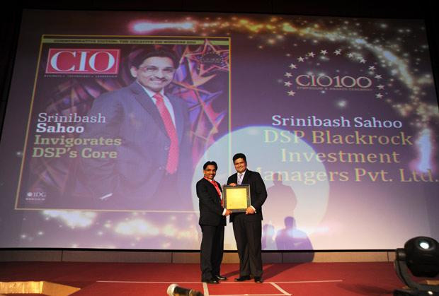 The Creative 100: Srinibash Sahoo, Senior VP & Head-Technology, DSP Blackrock Investment Managers receives the CIO100 Award for 2011