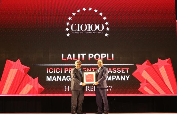 The Digital Innovators: Lalit Popli, Head-IT of ICICI Prudential Asset Management Company receives the CIO100 Award for 2017