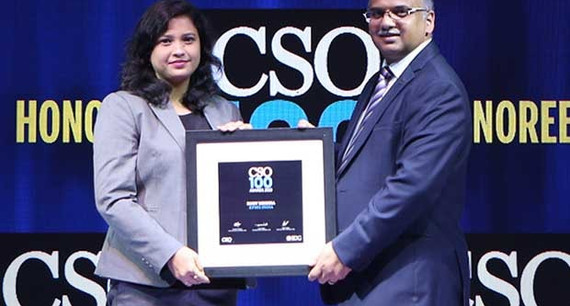 Ruby Mishra, National IT Security Officer at KPMG India receives the CSO100 Award for 2019