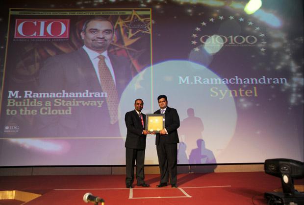 The Creative 100: Muralidharan Ramachandran, CIO, Syntel International receives the CIO100 Award for 2011