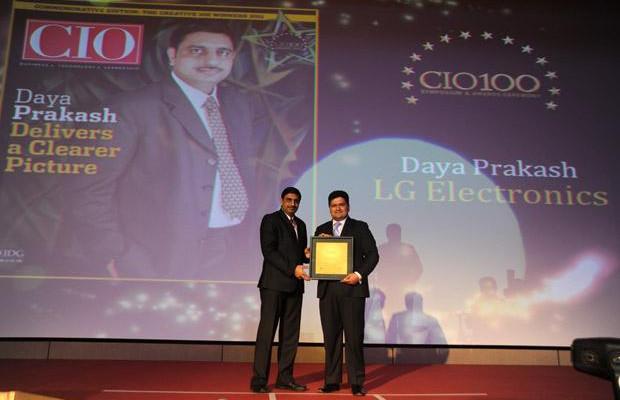 The Creative 100: Daya Prakash, Head-IT, LG Electronics India receives CIO100 Award for 2011