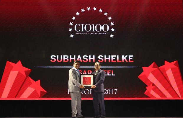 The Digital Innovators: Subhash Shelke, VP of Essar receives the CIO100 Award for 2017