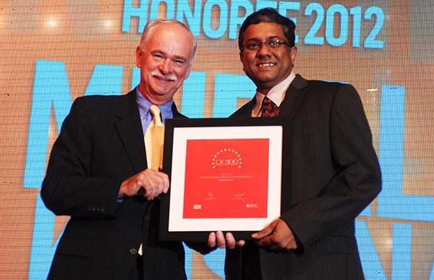 The Resilient 100: Muralikrishna K, Sr. VP Group Head-Computer, Infosys receives CIO100 Award for 2012