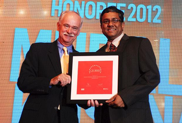 The Resilient 100: Muralikrishna K, Sr. VP Group Head-Computer, Infosys receives CIO100 Award for 2012