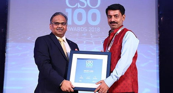 Sanjeev Lamba, Head IT GRC at UNOMinda Group receives the CSO100 Award for 2018