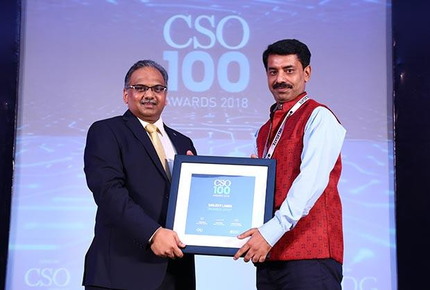 Sanjeev Lamba, Head IT GRC at UNOMinda Group receives the CSO100 Award for 2018