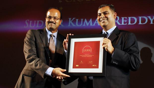The Agile 100: Sudhir Kumar Reddy, VP & CIO, Mindtree receives the CIO100 Award for 2010