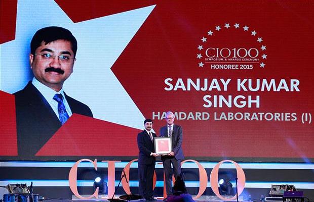 The Versatile 100: Sanjay Singh, Sr. GM IT of Hamdard Laboratories (India) receives the CIO100 Award for 2015