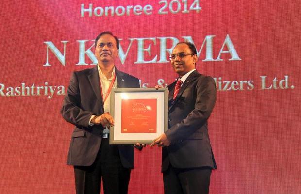 The Dynamic 100: N K Verma, GM - IT of Rashtriya Chemicals & Fertilizers receives the CIO100 Award for 2014