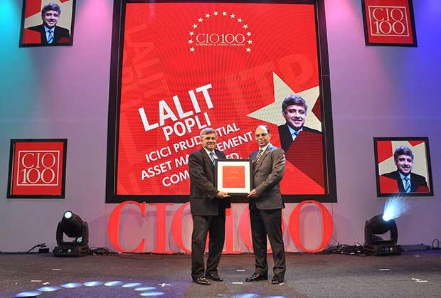The Transformative 100: Lalit Popli, Head-IT of ICICI Prudential Asset Management Company receives the CIO100 Award for 2016