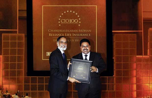 The Ingenious 100: Chandrasekaran Mohan, CTO of Reliance Capital receives the CIO100 Award for 2009
