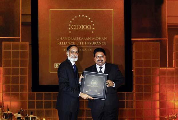 The Ingenious 100: Chandrasekaran Mohan, CTO of Reliance Capital receives the CIO100 Award for 2009