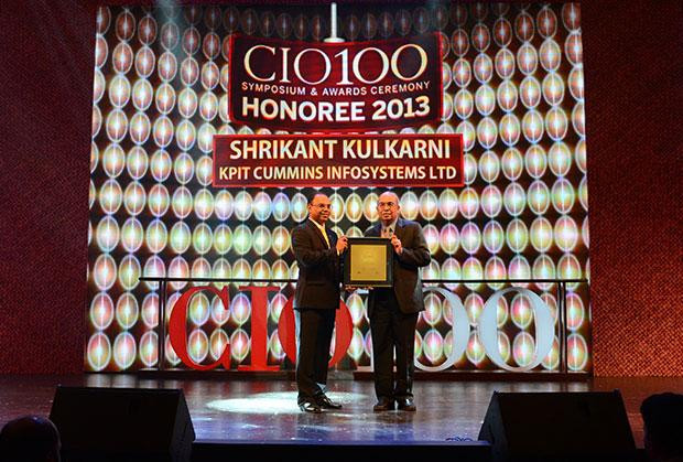 The Astute 100: Shrikant Kulkarni, Sr. VP & CIO of KPIT Technologies receives CIO100 Award for 2013