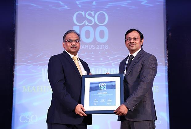Yogesh Kumar, AGM (IT) at Lalitpur Power Generation Company, Bajaj Group receives the CSO100 Award for 2018
