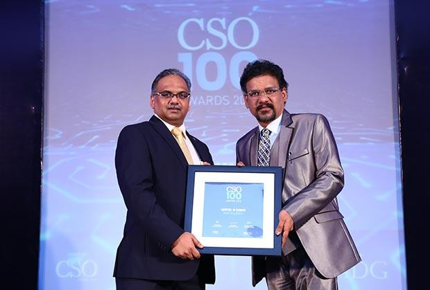Senthil Kumar, CISO at Rane Group receives the CSO100 Award for 2018