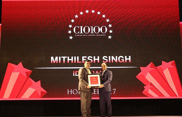 The Digital Innovators: Mithilesh Singh, Director & Head Technology Audit of IDFC Bank receives the CIO100 Award for 2017