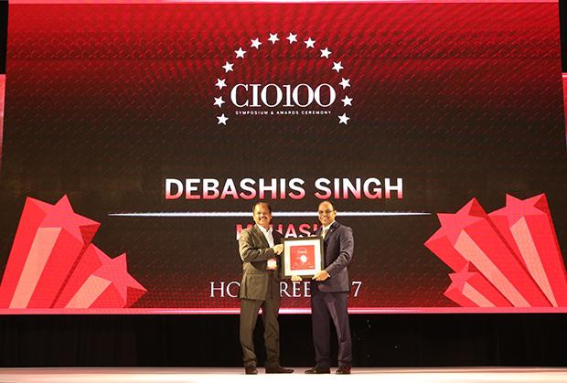 The Digital Innovators: Debashis Singh, Senior VP and CIO of Mphasis receives the CIO100 Award for 2017