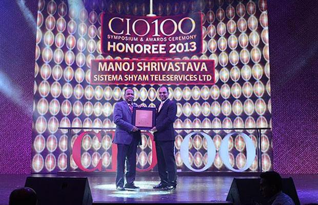 The Astute 100: Manoj Shrivastava, Director-IT of Sistema Shyam Teleservices receives the CIO100 Award for 2013