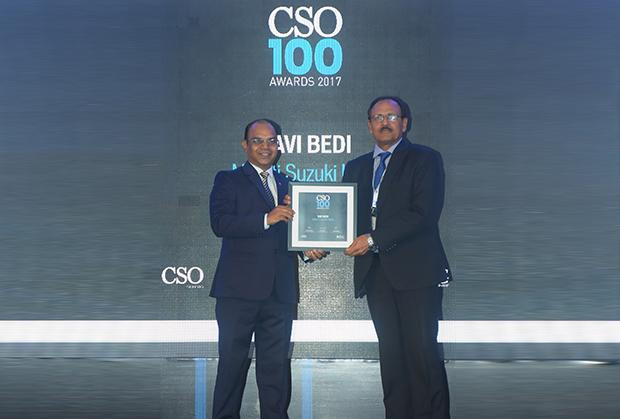 Ravi Bedi, assistant general manager (AGM) of Maruti Suzuki India who oversees security and vigilance, receives the CSO100 Award for 2017.