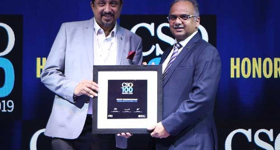 Sujoy Brahmachari, Senior GM – IS of Hero MotoCorp receives the CSO100 Award for 2019