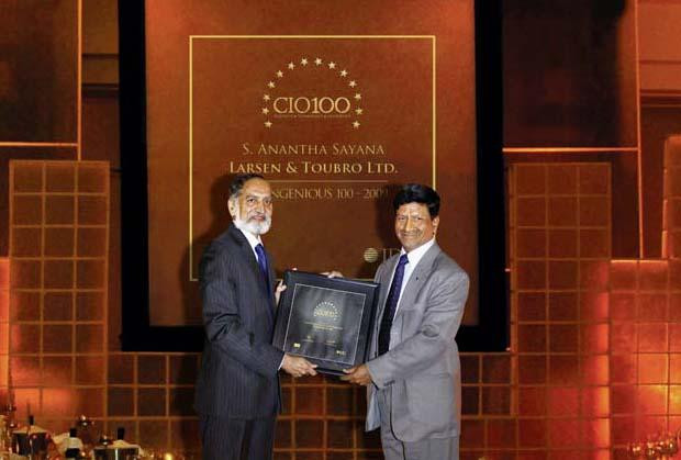 The Ingenious 100: Anantha Sayana, VP-Head IT, Larsen Turbo receives CIO100 Award for 2009