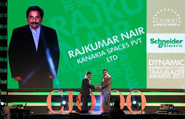 Dynamic Infrastructure Trailblazer: Rajkumar Nair, Deputy General Manager-IT of Karnakia Spaces receives the CIO100 Special Award for 2015