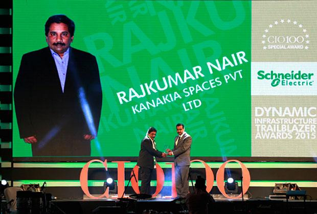 Dynamic Infrastructure Trailblazer: Rajkumar Nair, Deputy General Manager-IT of Karnakia Spaces receives the CIO100 Special Award for 2015