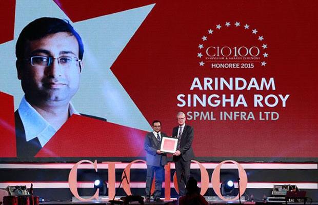 The Versatile 100: Arindam Singha Roy, CTO of SPML Infra receives the CIO100 Award for 2015