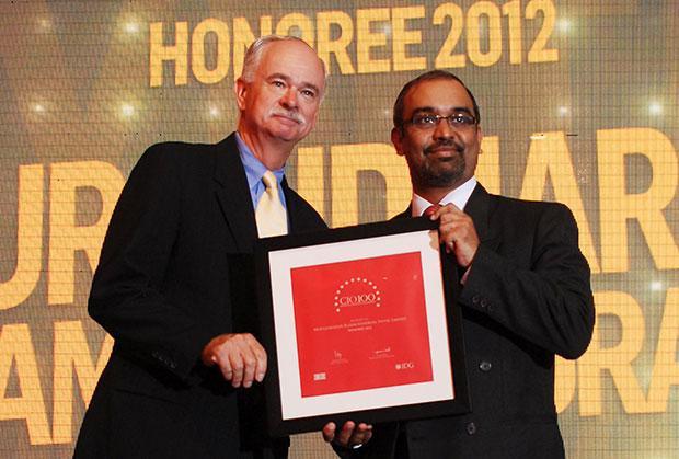 The Resilient 100: Muralidharan Ramachandran, CIO, Syntel International receives the CIO100 Award for 2012