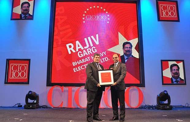The Transformative 100: Rajiv Garg, Executive Director, Bharat Heavy Electricals (BHEL) receives the CIO100 Award for 2016