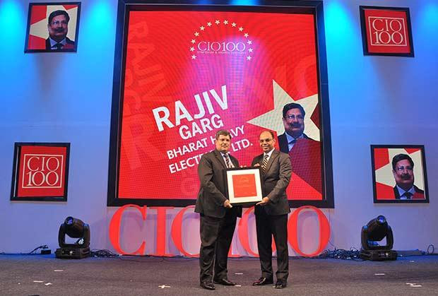 The Transformative 100: Rajiv Garg, Executive Director, Bharat Heavy Electricals (BHEL) receives the CIO100 Award for 2016