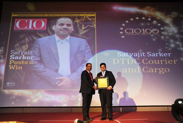 The Creative 100: Satyajit Sarker, GM-IT of DTDC Courier & Cargo receives the CIO100 Award for 2011