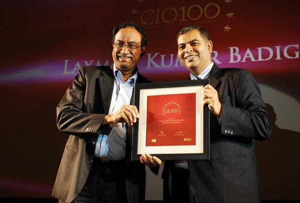 The Agile 100: Laxman Badiga, CIO of Wipro Infotech receives the CIO100 Award for 2010