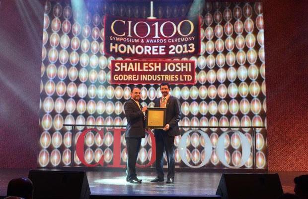 The Astute 100: Shailesh Joshi, VP-Head IT, Godrej Industries receives the CIO100 Award for 2013