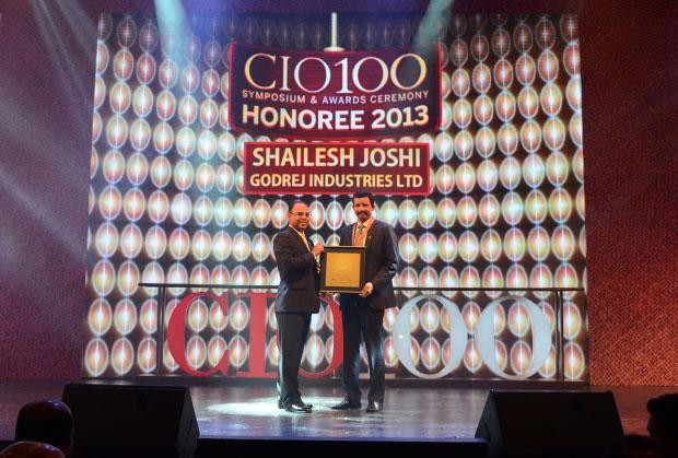 The Astute 100: Shailesh Joshi, VP-Head IT, Godrej Industries receives the CIO100 Award for 2013