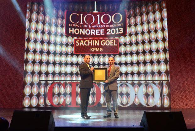 The Astute 100: Sachin Goel, CIO of KPMG India receives the CIO100 Award for 2013