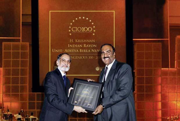 The Ingenious 100: H Krishnan, VP-IT of Aditya Birla Nuvo receives the CIO100 Award for 2009