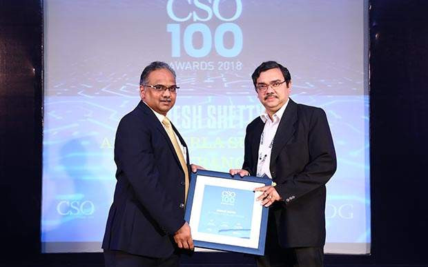 Debojit Maitra, CISO, Aditya Birla Fashion and Retail receives CSO100 Award for 2018