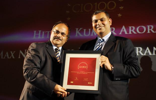 The Agile 100: Hitesh Arora, Director and Head-IT at Max New York Life Insurance receives the CIO100 Award for 2010
