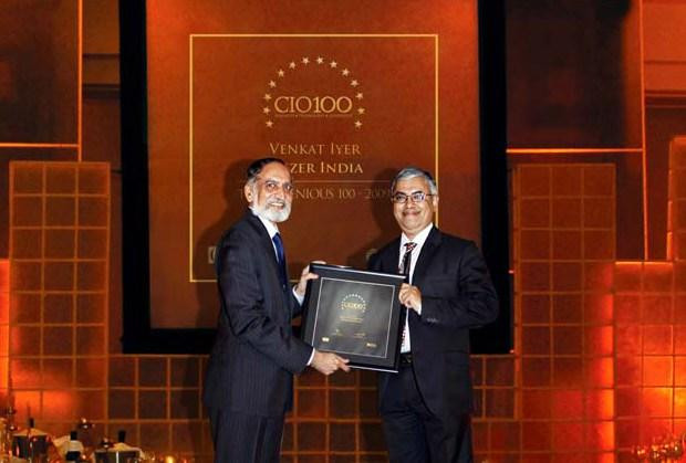 The Ingenious 100: Venkat Iyer, Director - Business Technology of Pfizer receives the CIO100 Award for 2009
