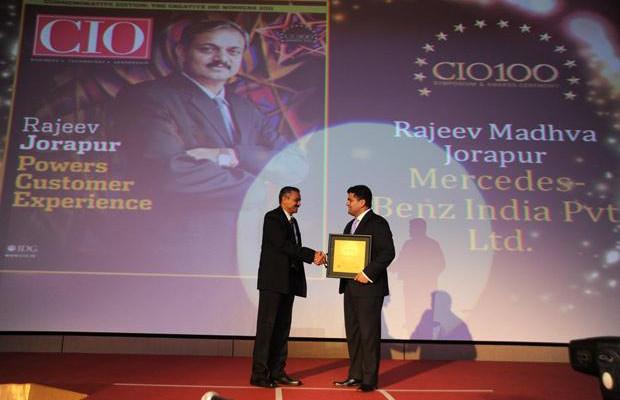 The Creative 100: Rajeev Jorapur, Head-IT of Mercedes-Benz India receives the CIO100 Award for 2011