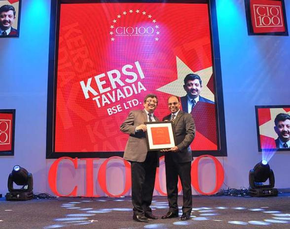 The Transformative 100: Kersi Tavadia, CIO, Bombay Stock Exchange (BSE) receives the CIO100 Award for 2016