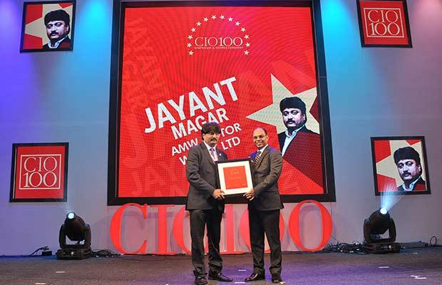 The Transformative 100: Jayant Magar, VP-IT and Group CIO of AMW Motors receives the CIO100 Award for 2016