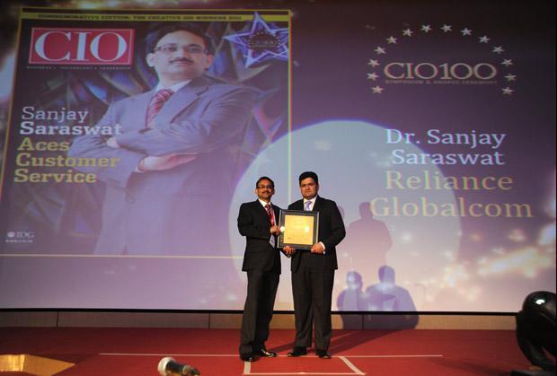 The Creative 100: Sanjay Saraswat, CIO of Reliance Globalcom receives the CIO100 Award for 2011
