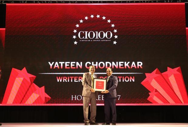 The Digital Innovators: Yateen Madhukar Chodnekar, Group CIO, Writer Corporation receives the CIO100 Award for 2017