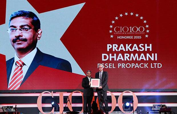 The Versatile 100: Prakash Dharmani, Global CIO of Essel Propack receives the CIO100 Award for 2015