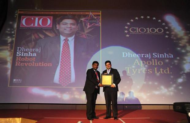 The Creative 100: Dheeraj Sinha, Group Head-IT of Apollo Tyres receives the CIO100 Award for 2011